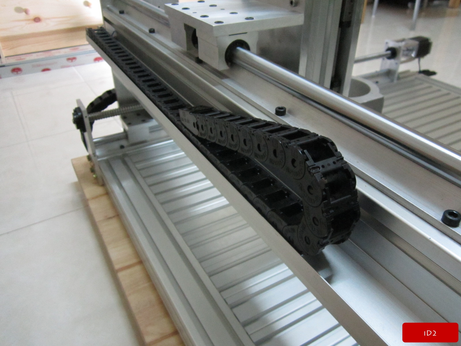 Cable Chain Assemblies : Assembly cable drag chain id cnc