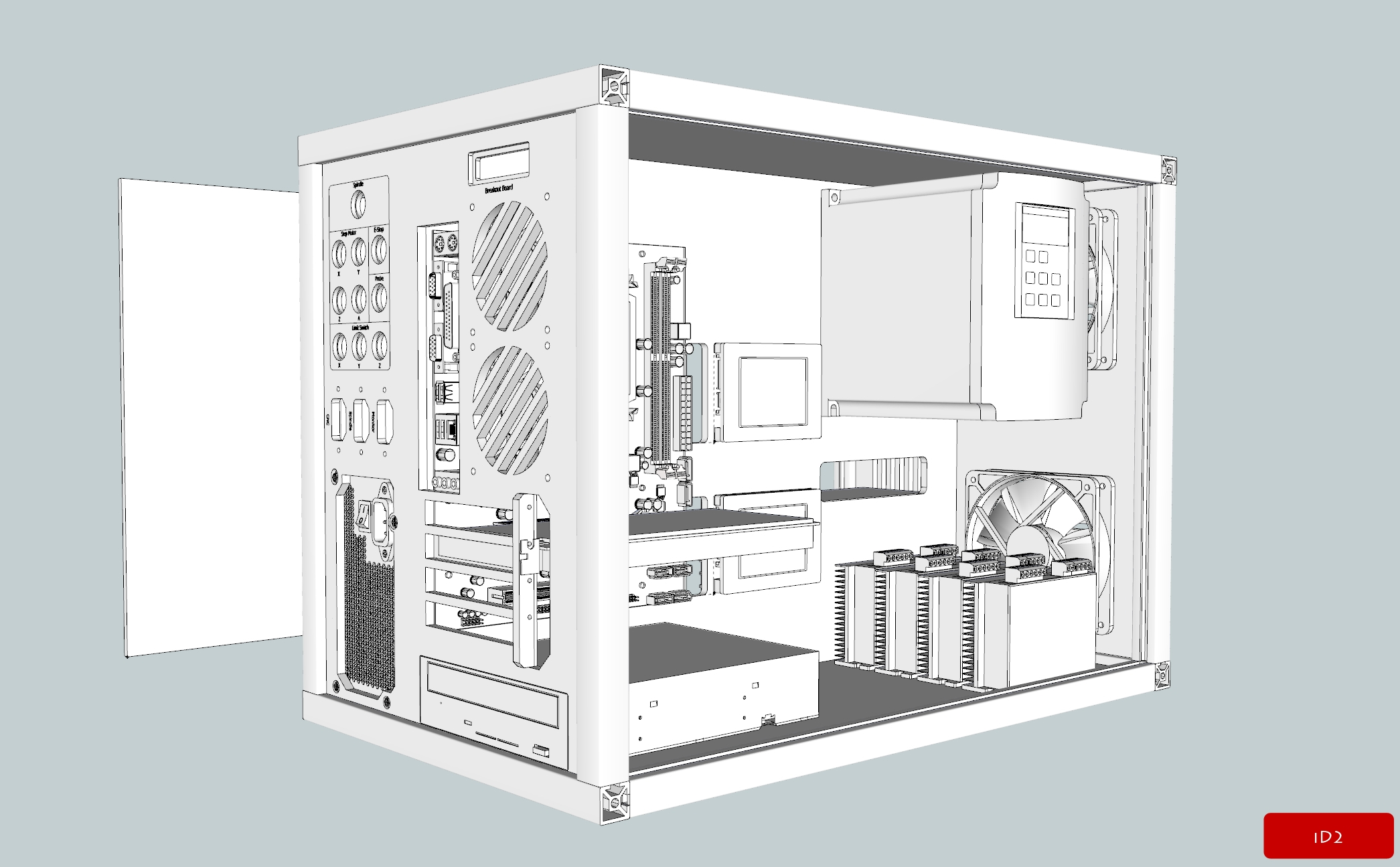 cnc controller box  draft design   u2013 id2cnc